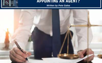 Should I seek legal advice before appointing an agent?